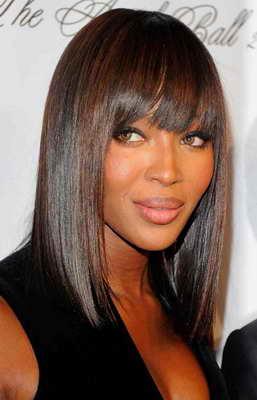 Naomi Campbell pelo liso - Blow Dry Bar peluqueria madrid