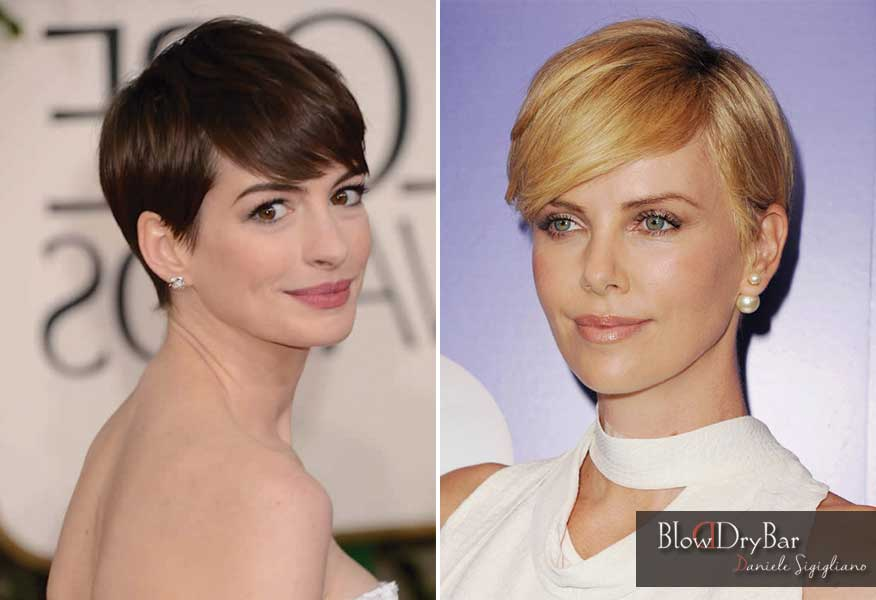 Pixie Anne Hathaway Charlize Theron - Blow Dry Bar Peluqueria