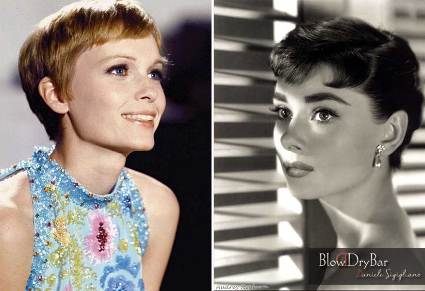 Pixie Audrey Hepburn Mia Farrow- Blow Dry Bar Peluqueria Madrid