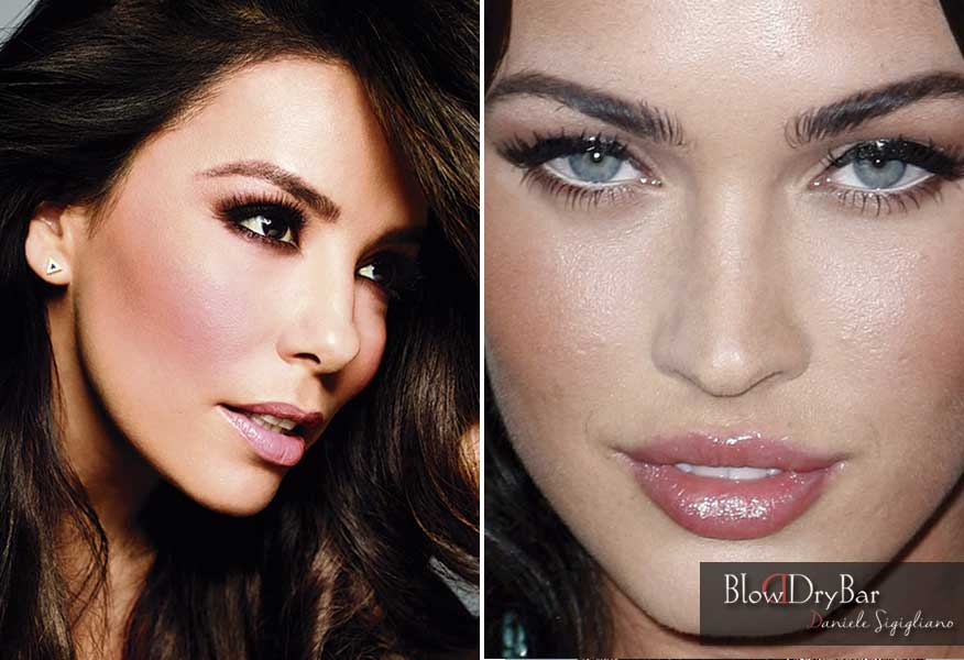 Eva Longoria y Megan Fox. Blow Dry Bar Peluqueria Madrid