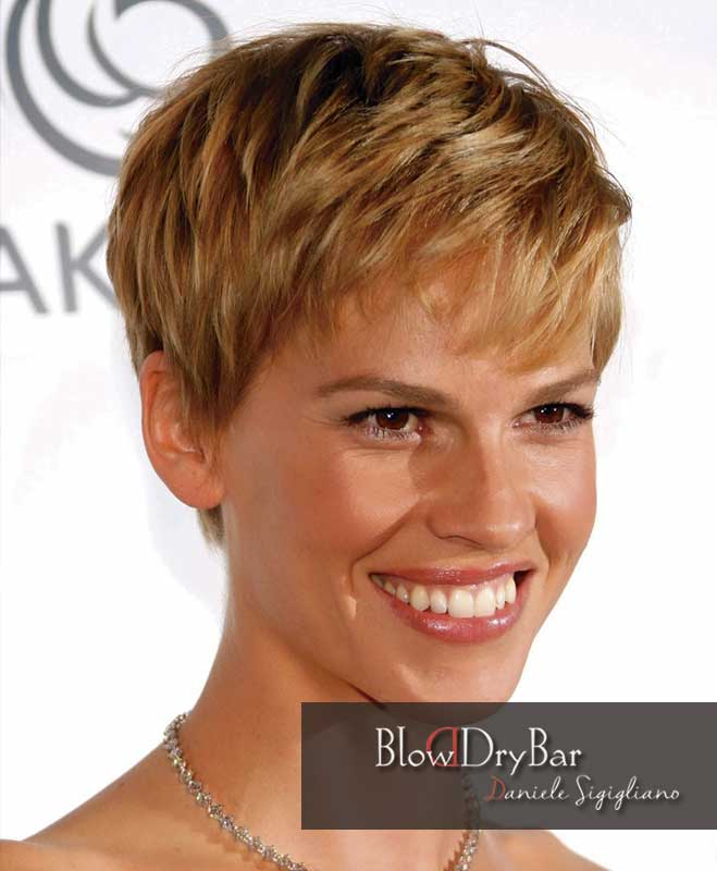 Hilary Swank 12 celebrities de pelo corto