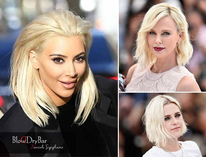 peinado platinum blonde verano